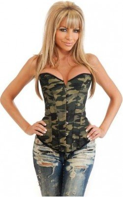 Corset camouflage militaire