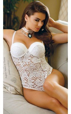 Body Blanco De Crochet, Con...