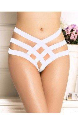 String Blanc Culotte Avec...