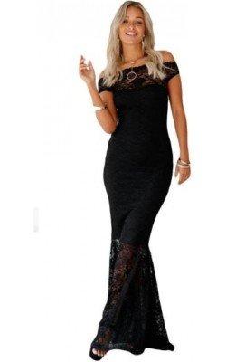 Vestido Negro Largo Escote...