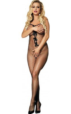 Catsuit Bodystocking Negro...